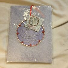 NIP DREAMCATCHER XMAS DECORATION WALL HANGING CAR ORNAMENT RED BEADS~CHEAP!