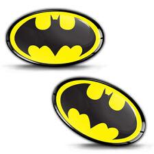 2 x 3D Silikon Aufkleber Batman Auto Motorrad Helm Tuning Logo Emblem Abzeichen