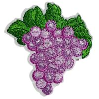 Grapes Embroidered Iron On Transfer Sew On Patch Dress Bag tshirt Jacket Skirt
