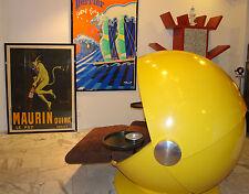 Riesen Sun Ball Chair in Sonnengelb und braunem Cord Rosenthal 1969 by FRANTA