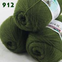 Sale Lot of 3 Balls x50gr LACE Soft Acrylic Wool Cashmere hand knitting Yarn 912