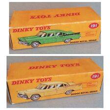 Dinky 191 Dodge Royal Sedan Empty Repro Box Only