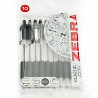 Zebra Z-Grip Retractable Ballpoint Pens 1.0mm - Black Ink - Pack of 10