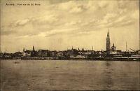 Anvers Antwerpen Belgien Belgique ~1910 Port Rue de St. Anne Hafen Kirche Schiff