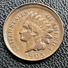 1905 Indian Head Cent 1c One Penny High Grade XF OFF CENTER ERROR RARE #17641