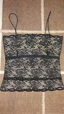 Women's black lace camisole - Size 10