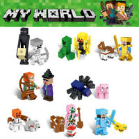 DE 16Pcs Minecraft My World Series Mini Figures Characters Building Blocks Lego