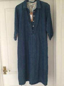BRAKEBURN blue denim dress size 12 new with tags