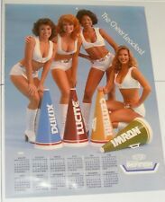VTG DuPont Car Paint Ad Poster DULUX/LUCITE/CENTARI/IMRON Cheerleaders Cleavage