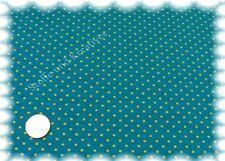 Pintas Stretch-Jersey Shirt petrol lime Hilco 50 cm Punktejersey Punktestoff
