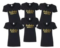 V-neck Birthday Squad Shirts Bday Queen T-Shirt Birthday Party Girls Night Out