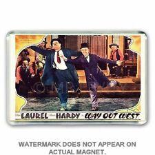 Laurel and & Hardy WAY OUT WEST LOBBY CARD IMAGE JUMBO FRIDGE / LOCKER MAGNET