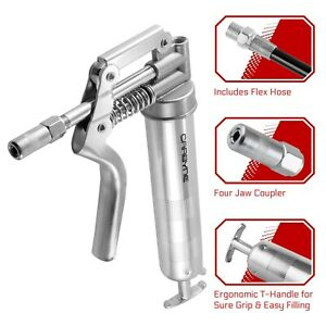 Carbyne Heavy Duty Professional Quality Mini Pistol Grease Gun, 3000 PSI. Inc...
