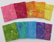 "Rainbow Batik  (42) 5"" Charm Pack 100% cotton Triple Dyed Balis Fabric Benartex"