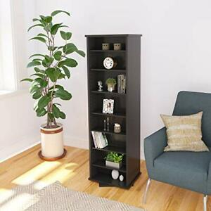 Prepac Two-Sided Spinning Tower Storage Cabinet Black