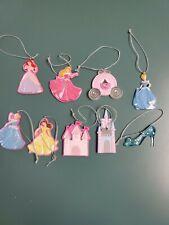 Lot Of 9 Disney Princess Christmas Ornaments