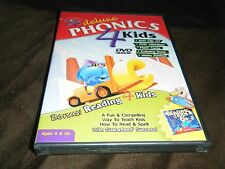 Pc Cd-Rom Dvd Deluxe Phonics 4 Kids Flash Cards Teach Kids To Read & Spell New!