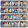 Kids Personalised Number Plates Ride on Car Jeep Truck Childrens Name - 2 Pack