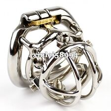 Unique Design Small Male Chastity Belt Device Stainless Steel Chastity Cage Lock