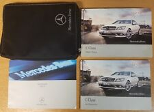 MERCEDES C-CLASS W204 OWNERS MANUAL HANDBOOK WALLET  2007-2011 PACK H-471