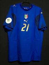 2006 Italy Home World Cup Shirt #21 Pirlo In All Sizes By Puma
