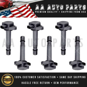 UF400 6 Ignition Coil Set For Acura MDX Honda Civic Pilot Ridgeline Saturn Vue