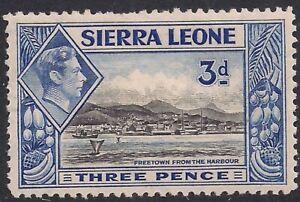 Sierra leone 1938 - 44 KGV1 3d Black & Ultramarine MM SG 192 ( A210 )