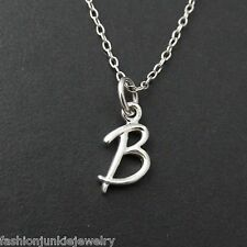 Tiny Initial Letter B Necklace - 925 Sterling Silver - Name B Letter Charm *NEW*