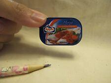 C001 Dollhouse Miniature appel canned fish filet w/ tomato migros supermarket