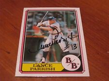 Lance Parrish Autographed Baseball Card