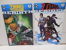 Titans and Teen Titans Dc Rebirth Comic Books #1 Nightwing Arsenal Robin Flash