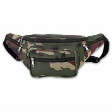 Camo Water Repellent Fanny Pack Camouflage Waist Bag Travel Wallet Hunting Belt