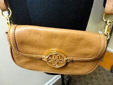TORY BURCH Camel Brown Leather Casual Crossbody Handbag Purse Size S B5098