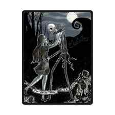 Skull Nightmare Before Christmas Soft Unique Throw Bed Sofa Blanket 58 x 80 Inch