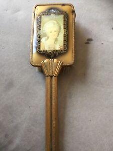 Vintage Victorian Brass Vanity Hair Brush