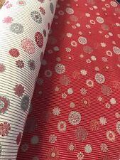 Tissu Jacquard  Ton de Rouge   piqué Coton Lourd,  Style Provençale  (destockage