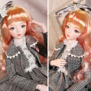 Christmas Gift Joint Movable 1/3 BJD Ball Jointed Doll Full Set 62cm Makeup DIY