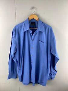 Kenji Men's Long Sleeved Button Up Shirt Size L Blue