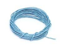 4 Mètres de Fil CORDON COTON CIRE Bleu Clair diamètre 1 mm - Bijoux Perles