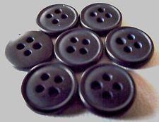 LOT 9  BOUTONS * 12 mm *  4 trous * noir  * Couture * mercerie * button 1,2 cm