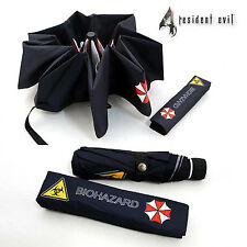 Resident Evil Biohazard Umbrella Corporation Black Waterproof Folding Umbrella