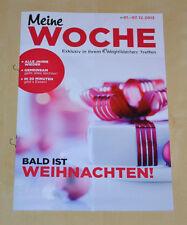 Weight Watchers Meine Woche 1.12 - 7.12 ProPoints Plan 360° Wochenbroschüre 2013