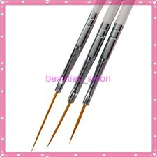 3Pcs Nail Art Manicure Ongle Liner Drawing Line Pen Painting Brush Pen Tool Kits