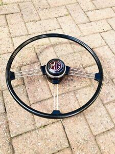 Mg Mgb Mgc Original Type Steering Wheel Inc Horn Push For MGB 1962- 1968