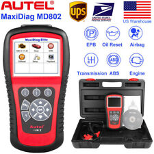 Autel MaxiDiag Elite MD802 OBD2 Car Scanner Engine Airbag SRS ABS Transmission