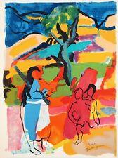 Pierre AMBROGIANI - Femme dans les champs - Lithographie originale signée