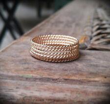 Rose Gold Spiral Rings, 14k Rose Gold Filled, Stacking Ring, Boho  Rings SJR0032