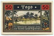 Deutsche Kolonien - Togo - Anecho - 50 Pfennig 1922