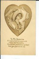 AX-258 - To My Valentine, Artist Signed A. Toniolon, 1907-1915 Postcard