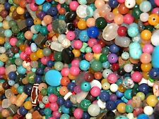 NEW 1/2 (lb) LOOSE BEADS LOT Colorful GEMSTONES, NUGGET, Agate, semi-precious